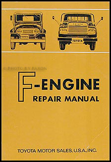 1966-1968 Toyota Land Cruiser F-Engine Engine Manual Original