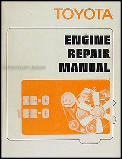 1972 Toyota Car & Truck Engine Repair Manual Original