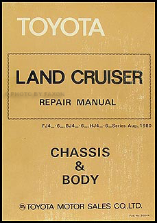 1981-1983 Toyota Land Cruiser Chassis Repair Manual Original No. 36044