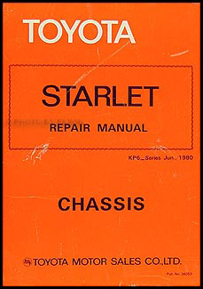1981-1982 Toyota Starlet Chassis Repair Manual Original No. 36053