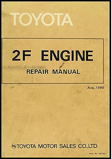 1982-1983 Toyota Land Cruiser Engine Repair Manual Original No. 36104