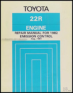 1982 Toyota Corona Emission Control Manual Original No. 36142