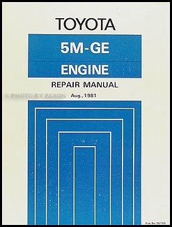 1982 Toyota Supra Engine Repair Manual Original No. 35145 (5M-GE)