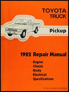 1982 Toyota Pickup Truck Electrical Wiring Diagram Original