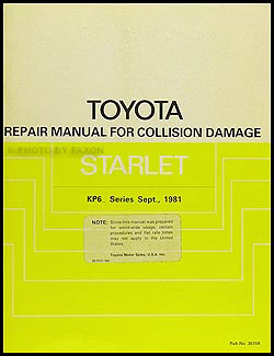 1981-1984 Toyota Starlet Body Manual Original