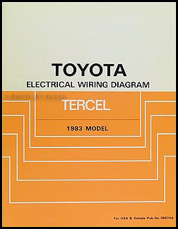 1983 Toyota Tercel Electrical Wiring Repair Manual Original