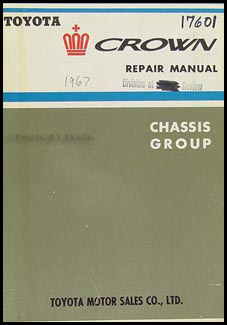 1964-1968 Toyota Crown Chassis Manual Original