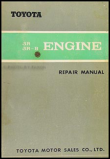 1967 Toyota 3R/3R-B Engine Repair Shop Manual Crown Corona Stout Lite Dyna