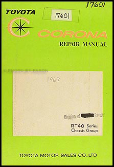 1965-1967 Toyota Corona Chassis Manual Original