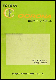1965-1967 Toyota Corona Body Manual Original