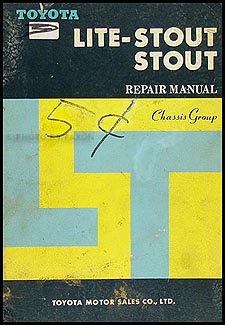 1966 Toyota Lite-Stout & Stout Chassis Repair Manual Original