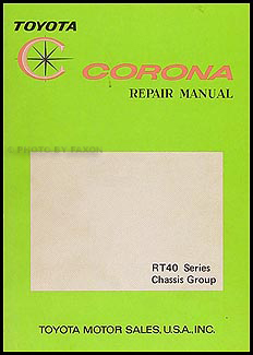 1968-1969 Toyota Corona Chassis Repair Manual Original No. 98015