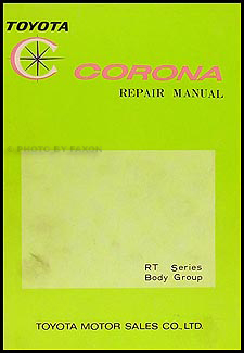 1968-1969 Toyota Corona Body Repair Manual Original No. 98016