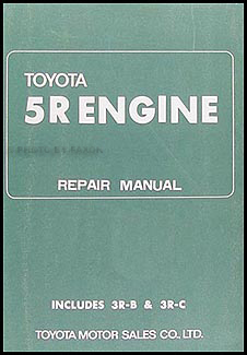 1968-1969 Toyota Corona, Crown, Stout Engine Repair Shop Manual (5R, 3R-B, 3R-C)