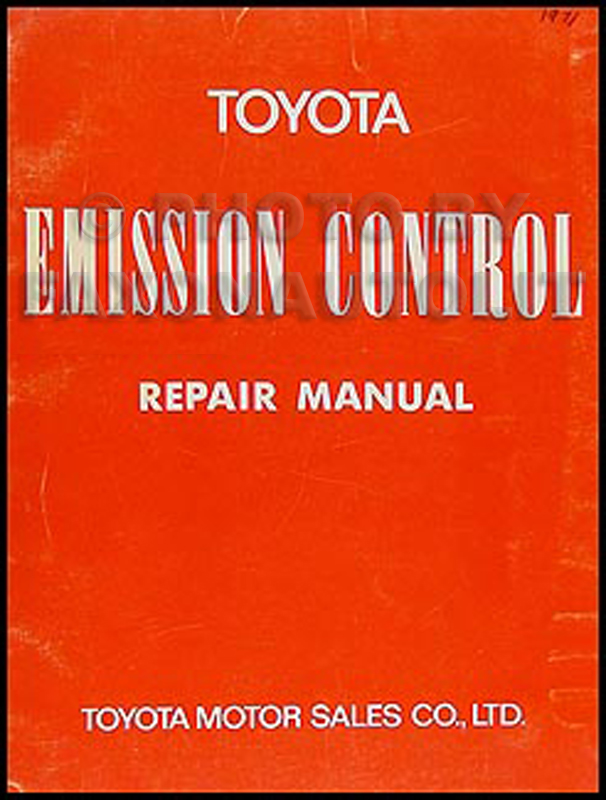 1971 Toyota Emission Control Manual Original