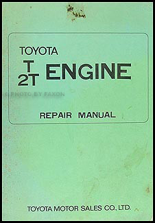 1968-1971 Toyota Car T/2T Engine Manual Original Corolla Carina Celica