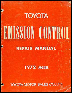 1972-1972.5 Toyota Emission Control Manual Original