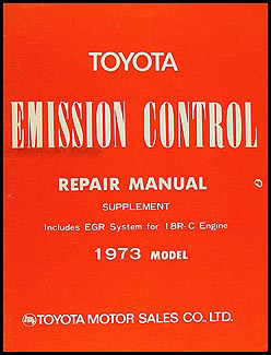 1973 Toyota Mark II Emission Control Manual Original No. 98088-1