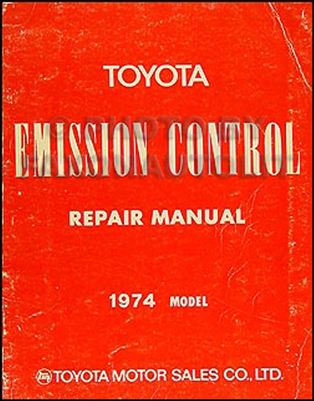 1974 Toyota Car & Pickup Emission Control Manual Original