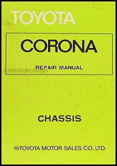 1974-1978 Toyota Corona Chassis Manual Original