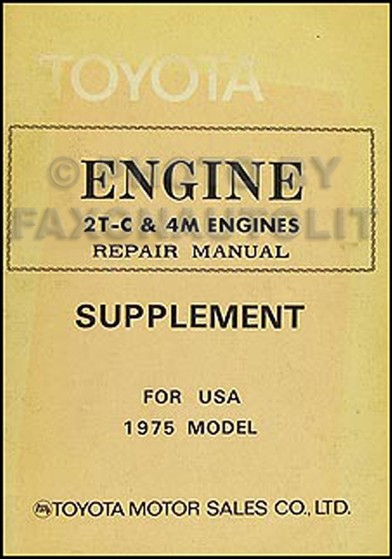 1975-1976 Toyota Mark II Engine Repair Manual Original No. 98122