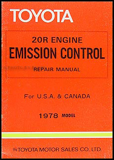 1978 toyota emission control manual original corona corolla pickup no  98268
