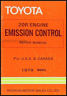 1979 Toyota 20R Emission Control Manual Original Pickup Corolla Corona