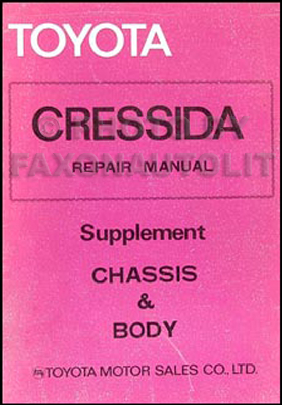 1979-1980 Toyota Cressida Chassis Repair Manual Original No. 98315
