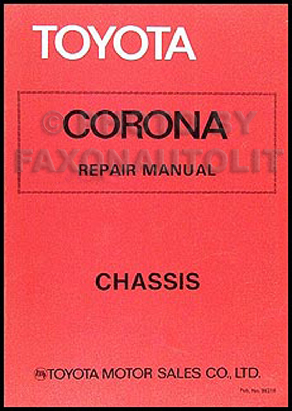 1979-1980 Toyota Corona Chassis Repair Manual Original No. 98316