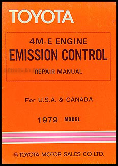 1979 Toyota Supra Emission Control Manual Original No. 98334
