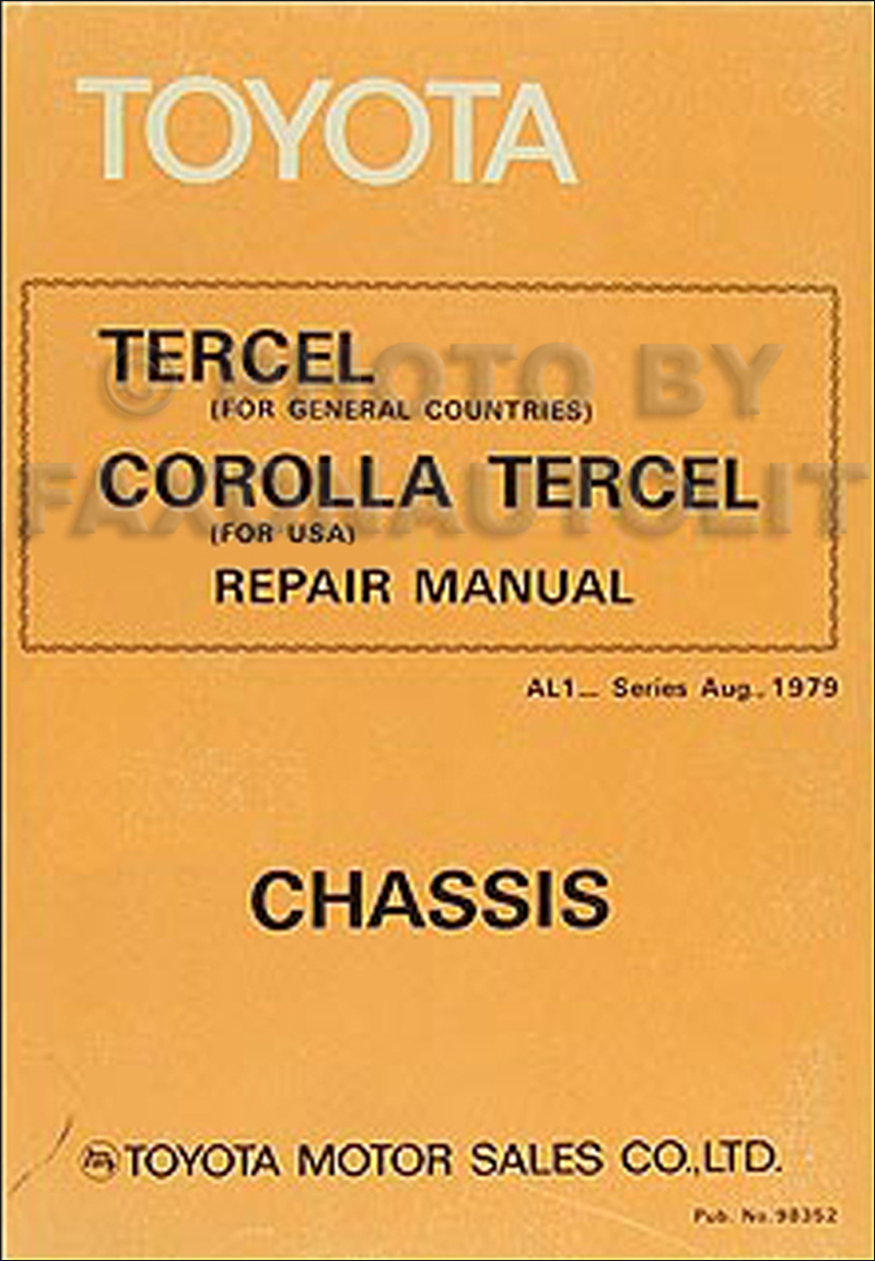 1980-1981 Toyota Corolla Tercel Chassis Repair Shop Manual Original 98352