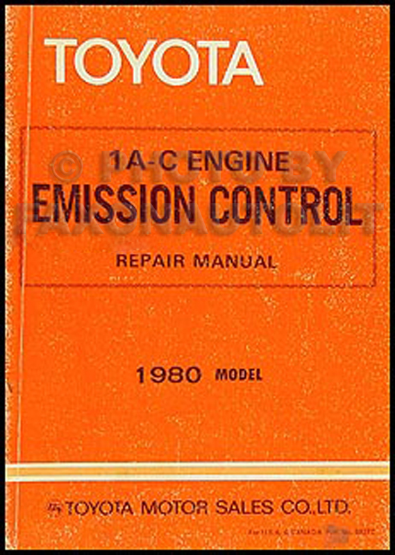 1980 Toyota Corolla Tercel Emission Control Manual Original No. 98372