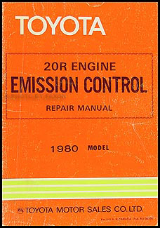 1980 Toyota 20R Engine Emission Control Manual Original Celica Corona Pickup