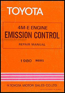1980 Toyota Supra & Cressida Emission Control Manual Original No. 98375