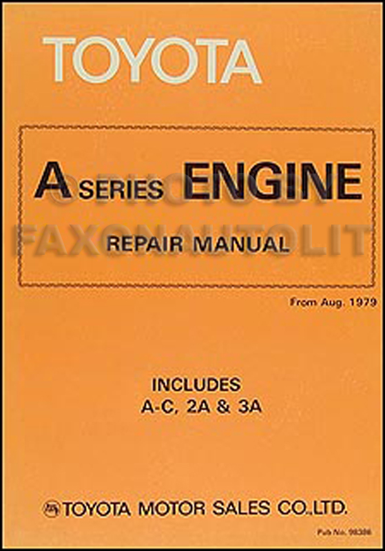 1980-1982 Toyota Corolla Tercel Engine Repair Shop Manual Original 98386 1A-C