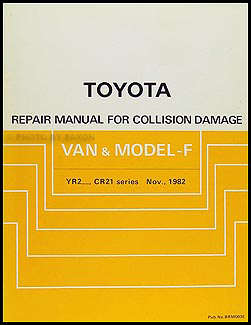 1983 Toyota Van & Model-F Body Collision Repair Manual Original