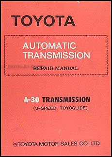 1970-1977 Toyota 3 Speed  Automatic Transmission Repair Shop Manual Corona Pickup Carina MK II