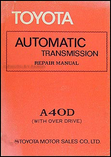 1979-1980 Toyota Supra  Automatic Transmission Repair Manual Original