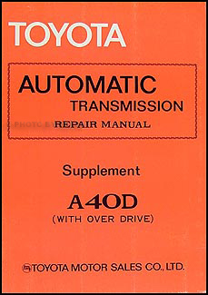 1981-1982 Corona 1979-1980 Supra Automatic Transmission Supp. Repair Shop Manual