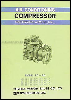 1968-1974 Toyota A/C Compressor Manual Original MAC-031 (2C-90)