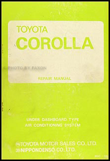 1970-1974 Toyota Corolla A/C System Manual Original No. MAC-084