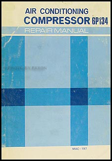 1974 Toyota 6P134 A/C Compressor Manual Original