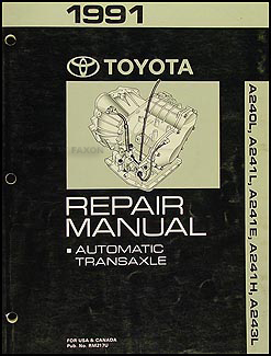 1991 Toyota Celica Corolla MR2 Automatic Transmission Repair Shop Manual