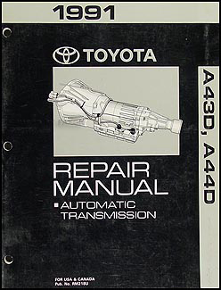 1991 Toyota 4Runner and Truck Automatic Transmission Repair Shop Manual