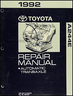 1992 Toyota Paseo Automatic Transmission Repair Shop Manual Original