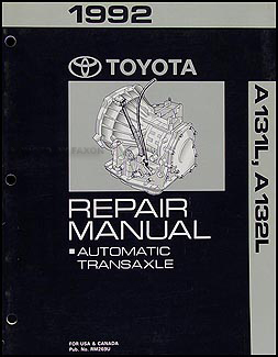 1992 Toyota Corolla and Tercel Automatic Transmission Repair Shop Manual