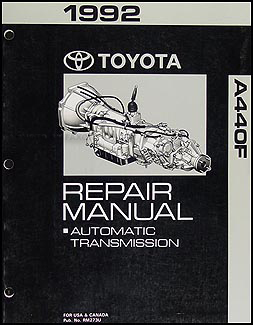 1992 Toyota Land Cruiser Automatic Transmission Repair Manual Original
