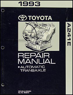 1993 Toyota MR2 Automatic Transmission Repair Manual Original