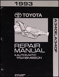1993-1996 Toyota T100 Truck Automatic Transmission Repair Shop Manual