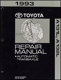1993 Toyota Tercel and Corolla 3 Speed Auto Transmission Repair Shop Manual